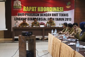 Dinsos Aceh Gelar Rakor Unit Program Dan Unit Teknis
