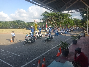 PJR Polda Aceh Latihan Safety Riding
