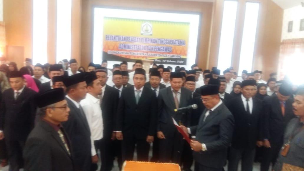 Sekda Lantik 156 Pejabat Eselon di Aceh Tamiang, Berikut Nama-namanya