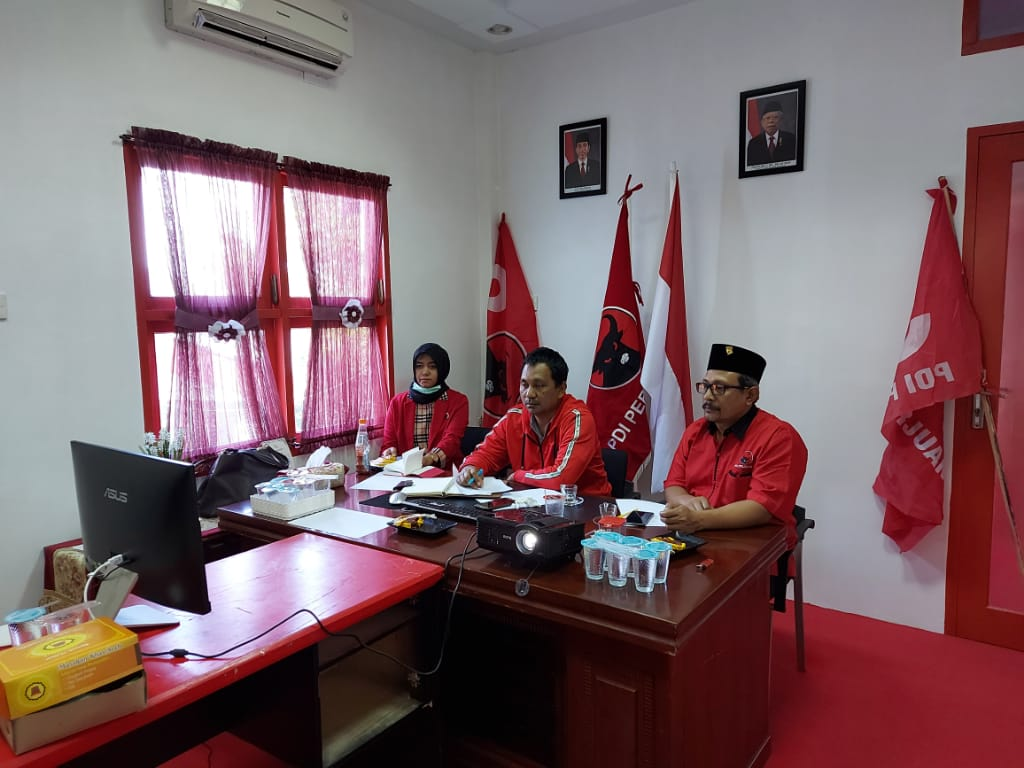 Bahas Soal Virus Corana, DPP dan DPD PDI Perjuangan se Indonesia Gelar Rapat Jarak Jauh