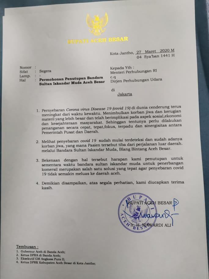 GM Angkasa Pura Aceh: Kita Tunduk Keputusan Kemenhub