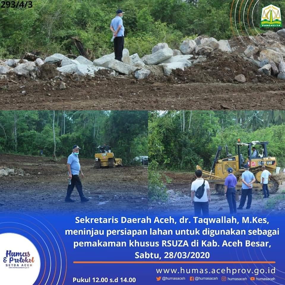 Pemerintah Aceh Sediakan Lahan Kuburan Khusus Jenazah Positif Corona