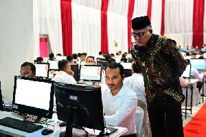 Plt Gubernur Aceh Tinjau Lokasi Tes SKD CPNS