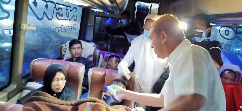 Cegah Corona, Penumpang di Terminal Aceh Tamiang Diperiksa Suhu Tubuh