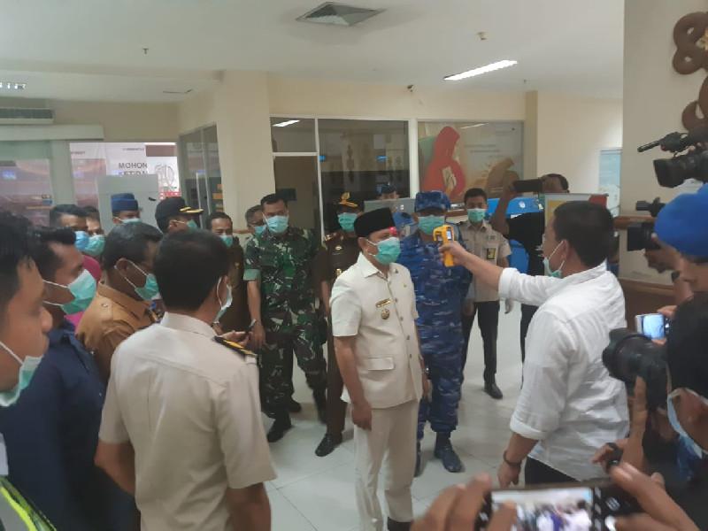 Bupati dan Forkopimda Aceh Besar, Tinjau Penanganan Virus Covid-19 di Bandara SIM