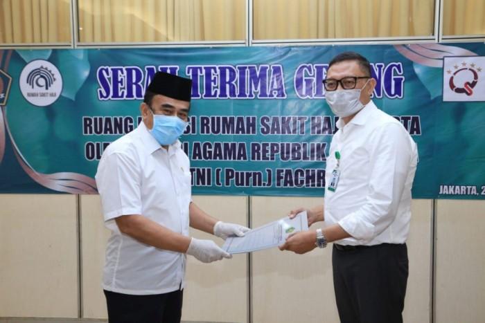 Menag Serahkan Gedung Asrama Haji untuk Ruang Isolasi Pasien Covid-19