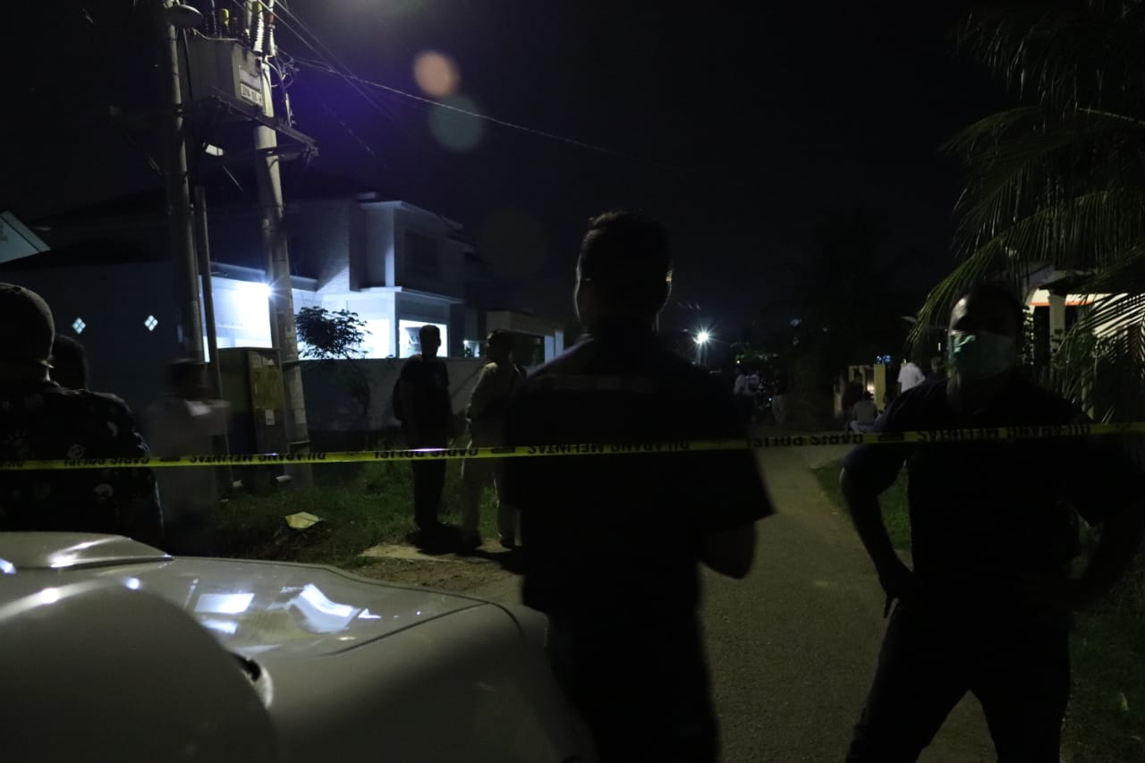 Rumah Plt Kepala ULP Aceh Digranat, Polisi Masih Melakukan Identifikasi di Lokasi Kejadian
