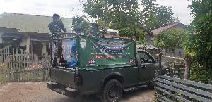 Detasemen Intelijen Kodam IM Lakukan Penyemprotan Rumah Warga di Desa Alue Naga