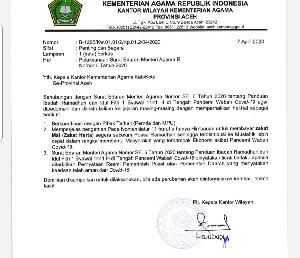 Pelaksanaan Ibadah Ramadhan, Kanwil Kemenag Aceh Koordinasi ke Pemerintah dan MPU Aceh