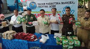 BNNP Aceh Musnahkan Narkotika Golongan I