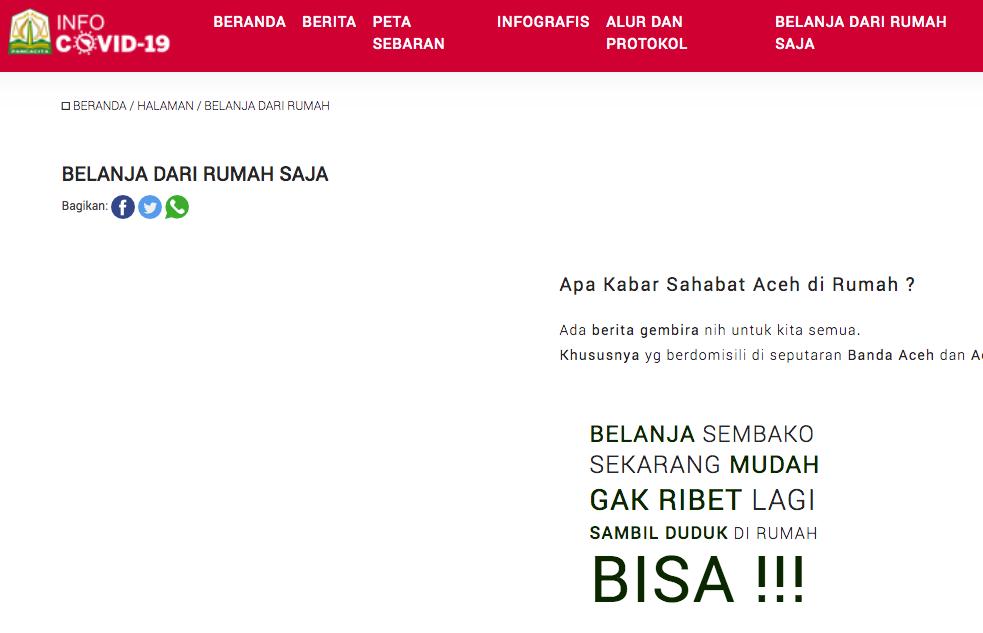 Pemerintah Aceh Sediakan Aplikasi Layanan Informasi Covid-19