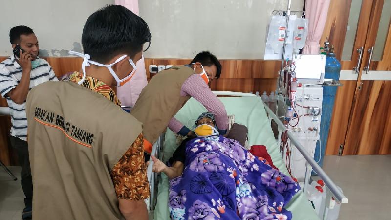 Yayasan Gebetan Bagi Masker untuk Pasien dan Pengunjung RSUD Aceh Tamiang