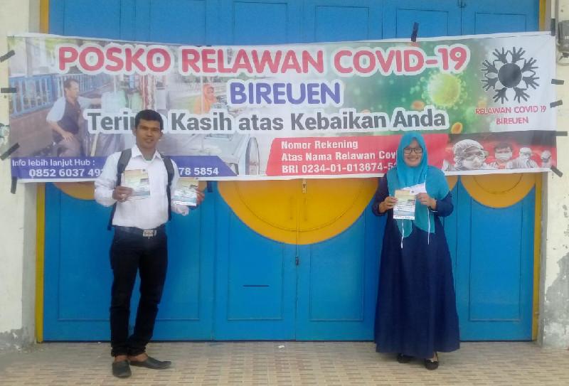 Relawan Covid-19 Bireuen Buka Posko Donasi untuk Masyarakat Miskin