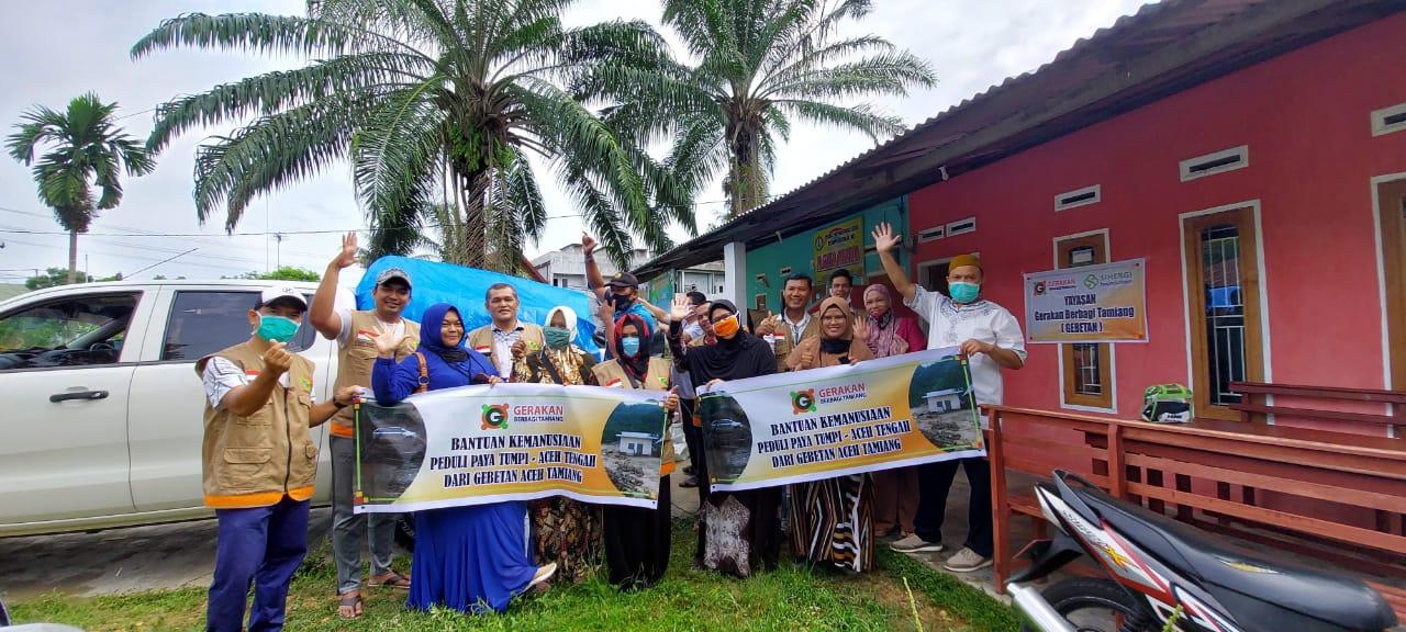 Relawan Gebetan Salurkan Bantuan untuk Korban Banjir Bandang Aceh Tengah