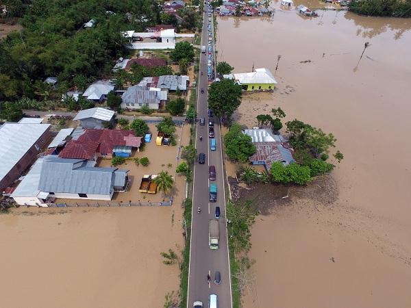 Sungai di Aceh Besar Meluap, Sejumlah Desa Dilanda Banjir