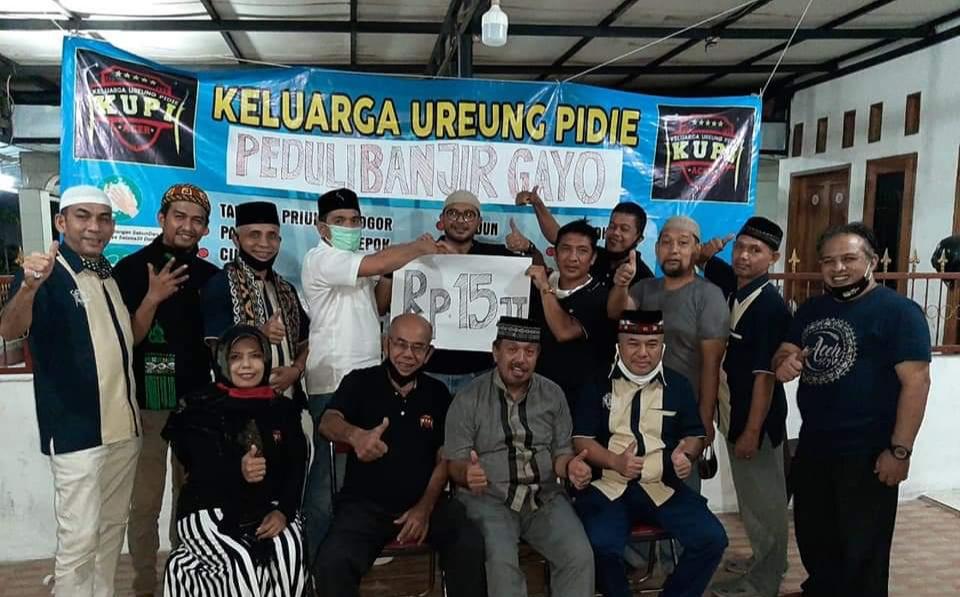 Keluarga Ureung Pidie Jabodetabek Bantu Korban Musibah Banjir Bandang Aceh Tengah