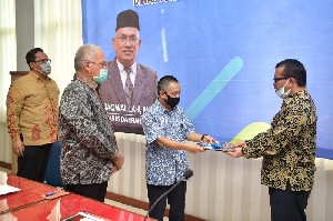 Sertijab Kadisperindag, Sekda Aceh Ingatkan Gerakan BEREH dan Protokol Kesehatan