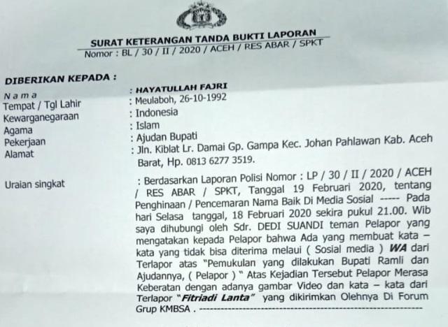 Jaksa Tahan Penyebar Video Kekerasan di Pendopo Aceh Barat