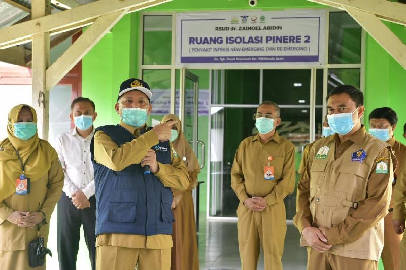 Sekda Aceh Resmikan Pengoperasian 24 Ruang Isolasi Tambahan