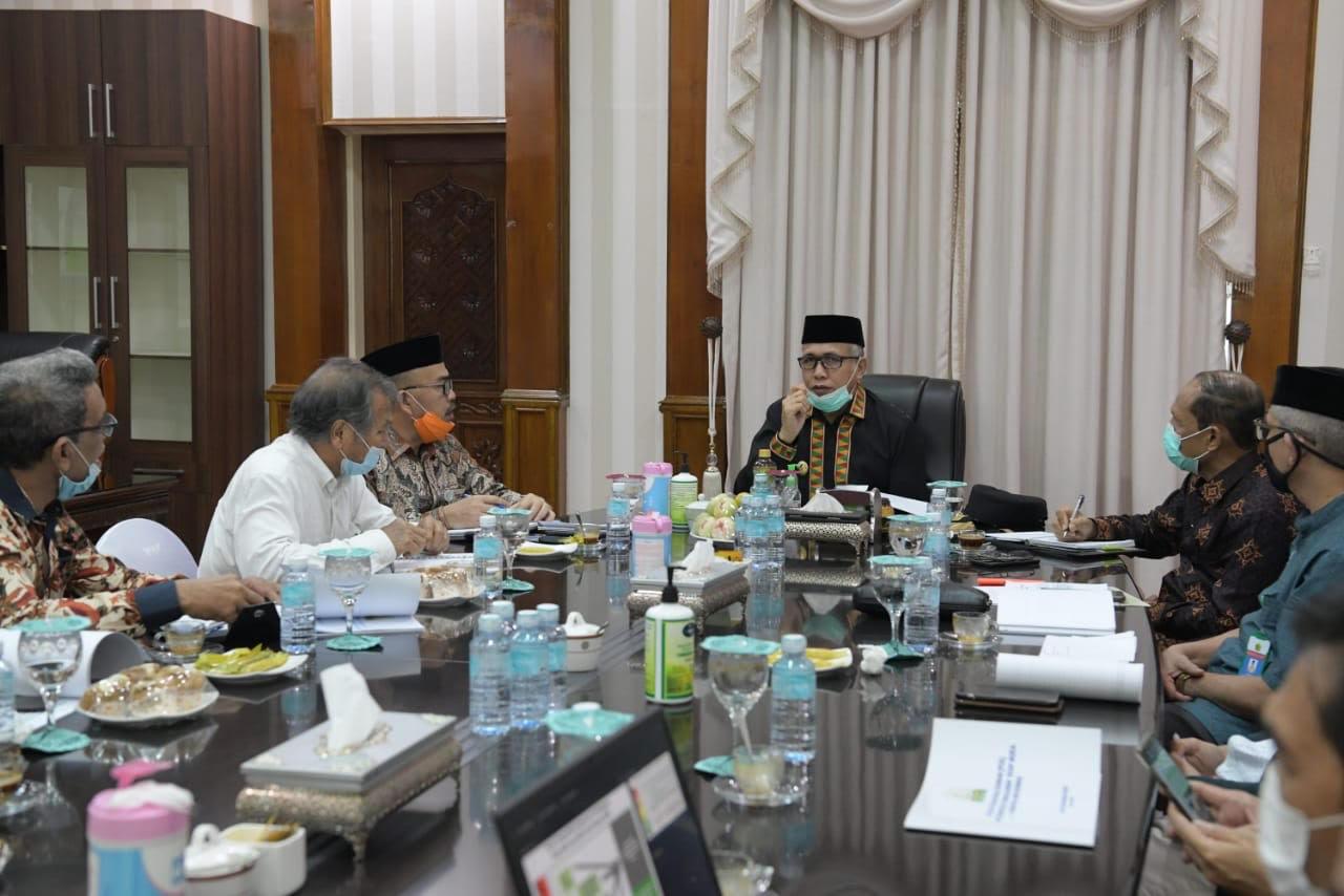 Plt Gubernur Aceh Bahas Mekanisme Belajar di Sekolah dalam Fase New Normal