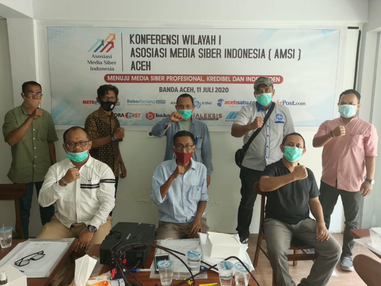 Pengurus AMSI Aceh Terbentuk, Maimun Saleh Pimpin Periode 2020-2023
