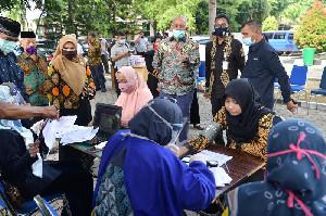 Sekda Aceh Pantau Langsung Aksi Donor Darah ASN Pemerintah Aceh