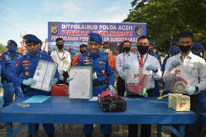 Polda Aceh Tangkap Dua Kapal Nelayan Lakukan Illegal Fishing