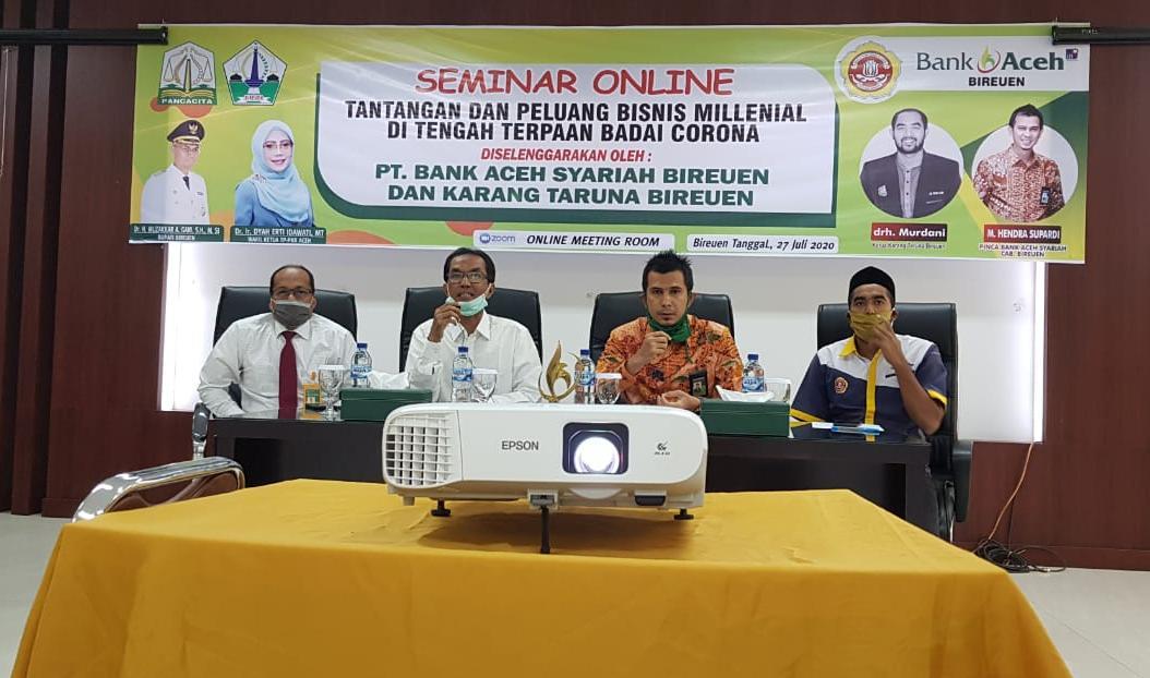 Pelaku Usaha di Bireuen Ikut Talkshow Online Bank Aceh Syariah