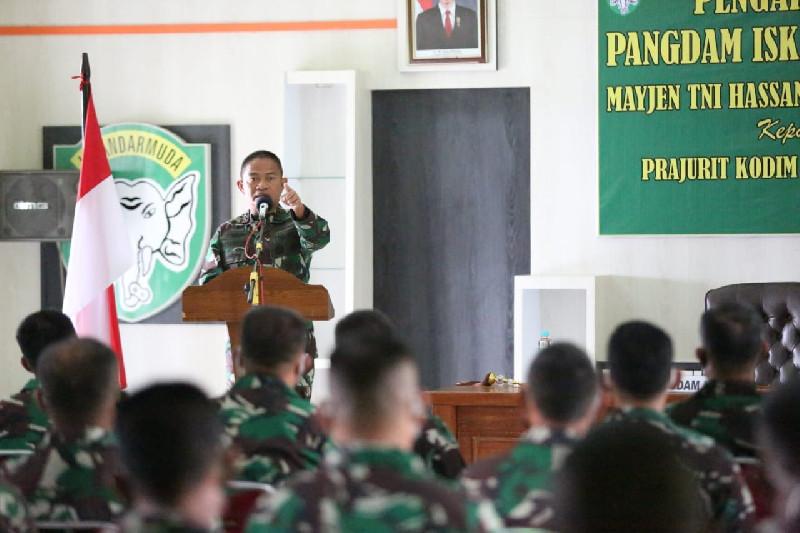 Pangdam IM Minta Prajurit TNI Peka Terhadap Lingkungan