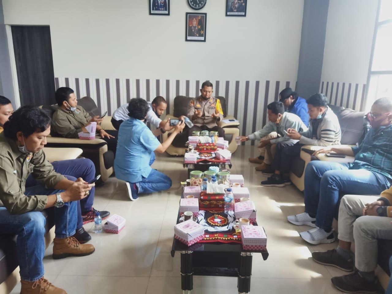 Kapolres Aceh Tengah Temu Ramah dengan Wartawan