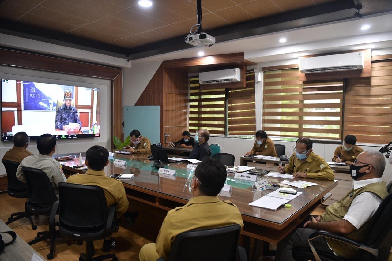 Forkopimda Aceh dan Kabupaten/Kota Setuju dengan Rancangan Pergub Peningkatan Penanganan Covid-19