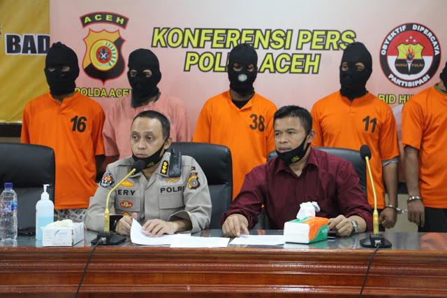 Polda Aceh Ungkap Modus Baru Penjualan Sabu 4,5 Kg Dibungkus Teh