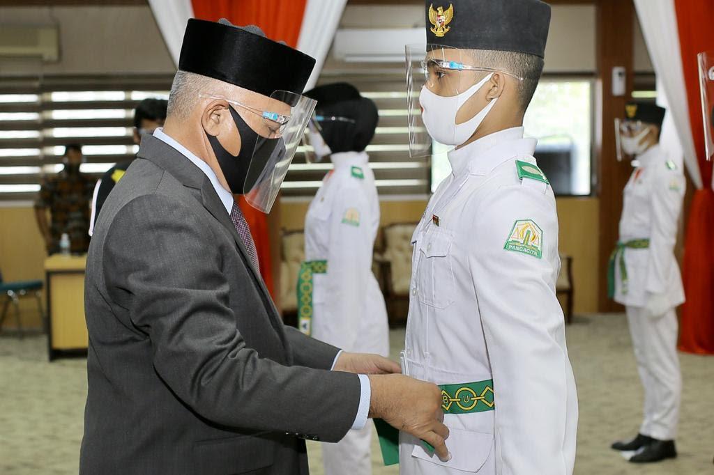 Sekda Kukuhkan Paskibra Aceh 2020