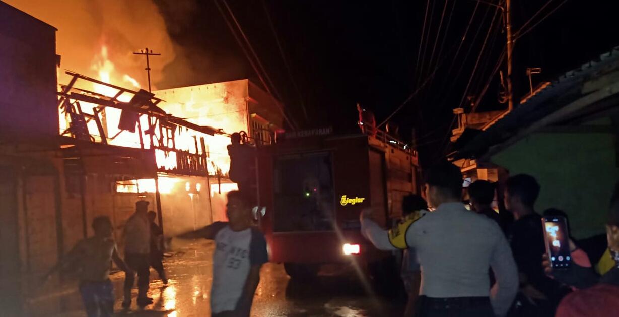 Dilalap Si Jago Merah, Enam Ruko di Aceh Tamiang Ludes Terbakar