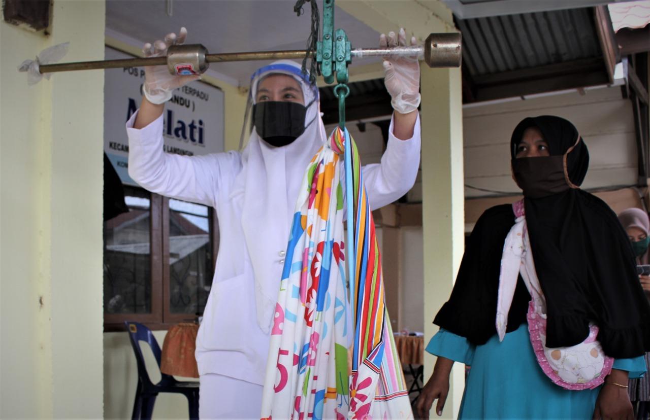 Meski Pandemi, UPTD Puskesmas Lampulo Laksanakan Posyandu