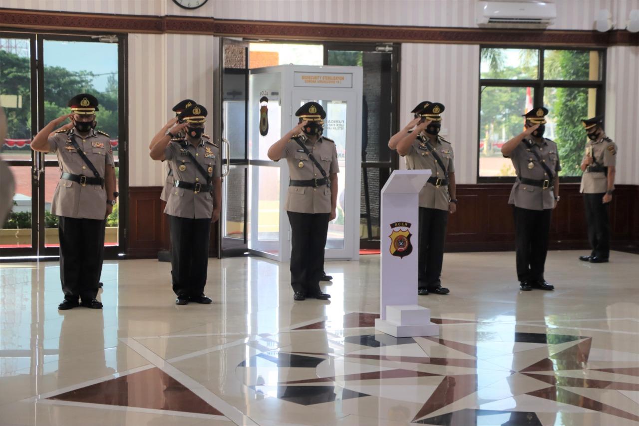 Lima Pejabat Polda Aceh Sertijab