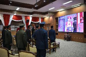 Forkopimda Aceh Ikuti Upacara HUT RI Ke-75 di Istana Kepresidenan Secara Virtual