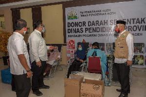 3.836 Kantong Terkumpul pada Aksi Donor Darah ASN Pemerintah Aceh