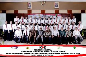 KPK Adakan Pelatihan Peningkatan Kemampuan Penegak Hukum di Wilayah Aceh