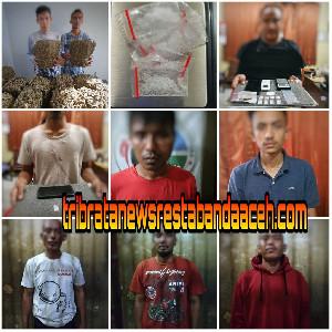 Satresnarkoba Polresta Banda Aceh Ringkus 9 Tersangka Penyalahgunaan Narkotika