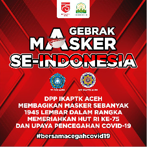 Peringati Hari Kemerdekaan, IKAPTK Aceh bagikan 1.945 Masker