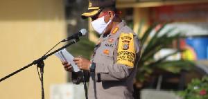 Kapolresta Banda Aceh Ingatkan Personil Patuhi Protokol Kesehatan