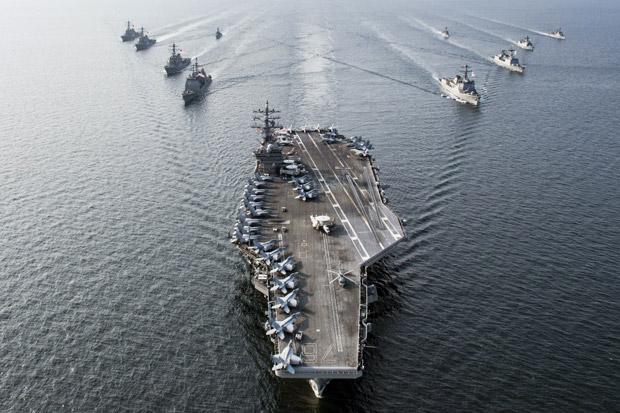 Pesan Penting Latihan Kapal Induk AS di Laut China Selatan