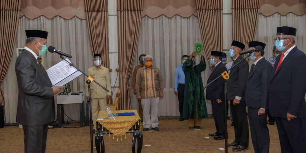 Ini Daftar Nama-nama Pejabat BPKS yang Dilantik Plt Gubernur Aceh