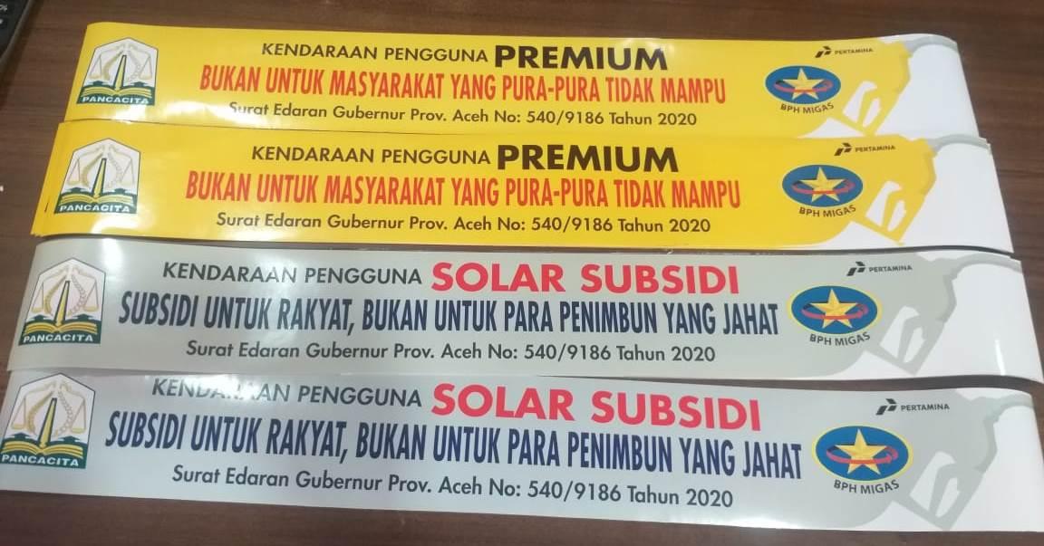 Mendudukkan Pemikiran Perihal Stiker BBM Pemerintah Aceh
