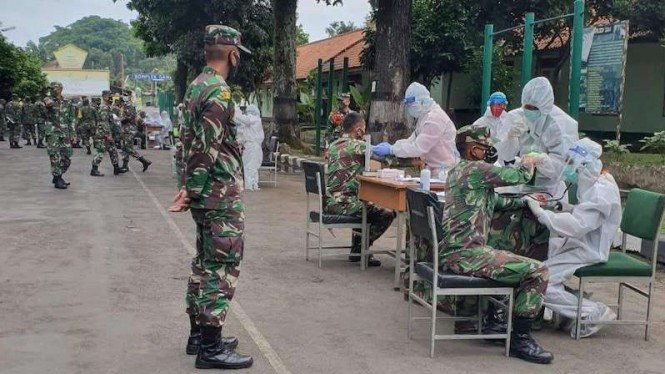 Kasus COVID-19 di Secapa TNI AD, Tersisa 172 Pasien Positif