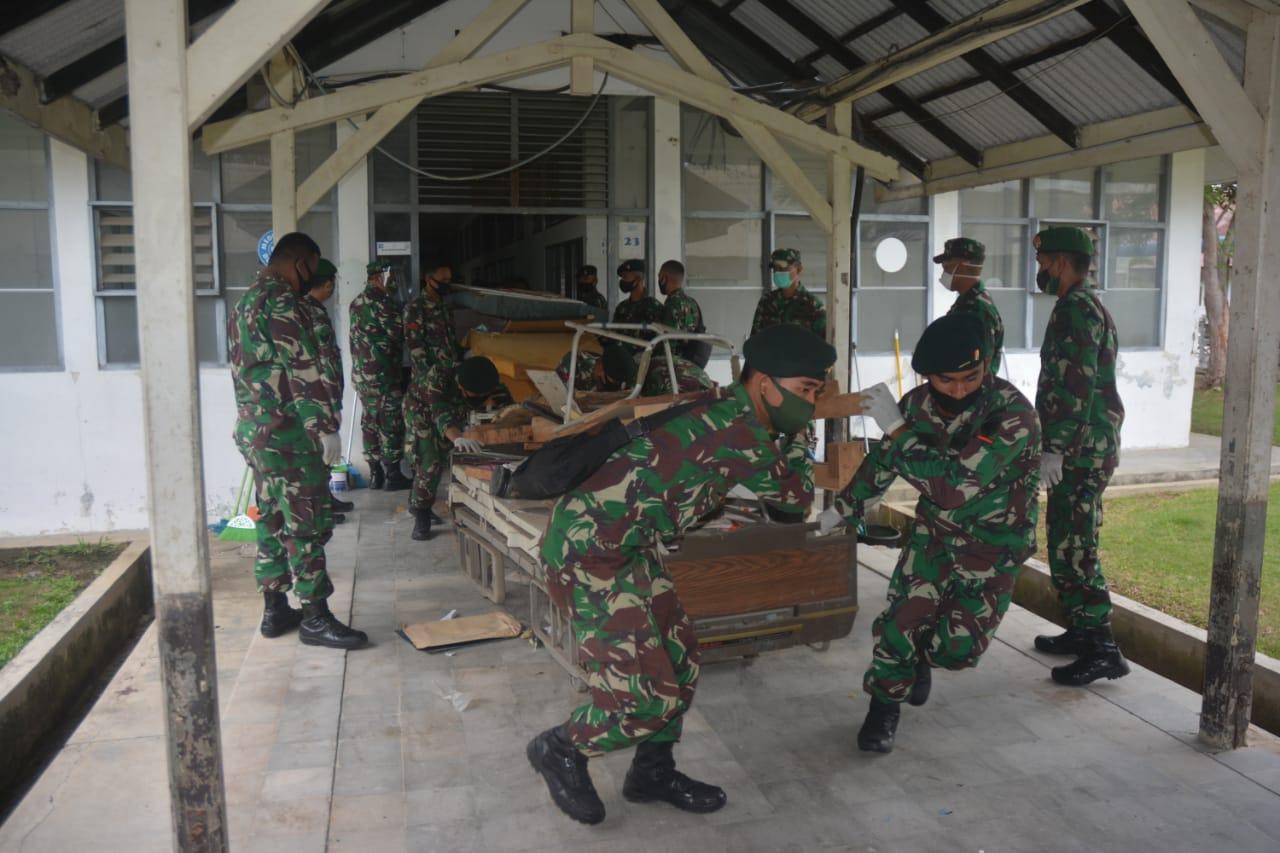 TNI Bantu RSUZA Siapkan Ruang Isolasi