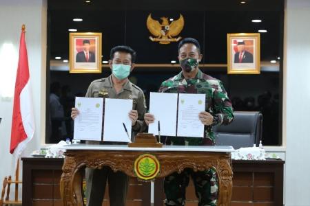 Sinergitas Dua Institusi Kementan-TNI AD Membangun Sektor Pangan