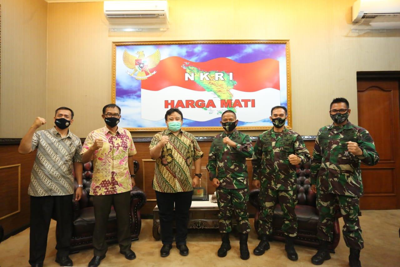 Kunjungan Direksi PT PIM yang Baru Diterima Pangdam IM