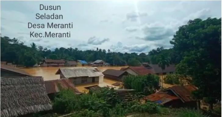 Provinsi Kalbar 10 Desa Terdampak Banjir di Kabupaten Landak